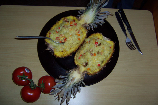 photo of Ana's lovely pineapple coconut rice