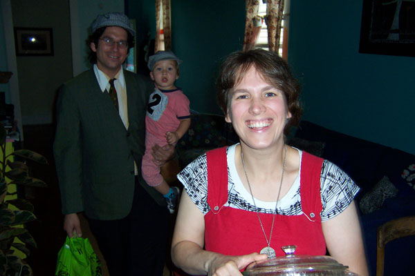 Paul, Francis and Helen at the October vegan potluck