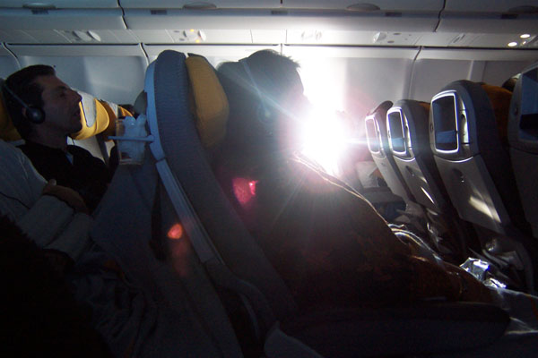 photo of people on our flight